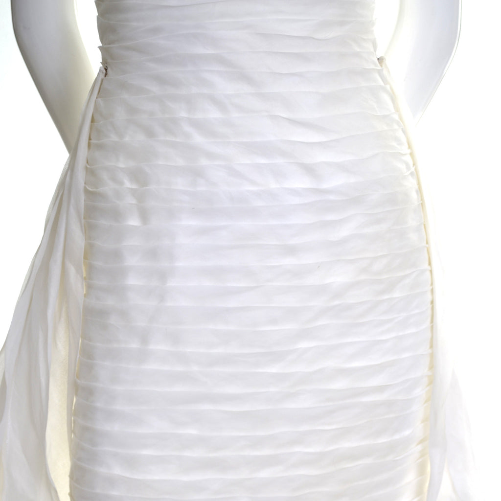 William Cahill Beverly Hills Vintage Wedding Dress Pleated Organza