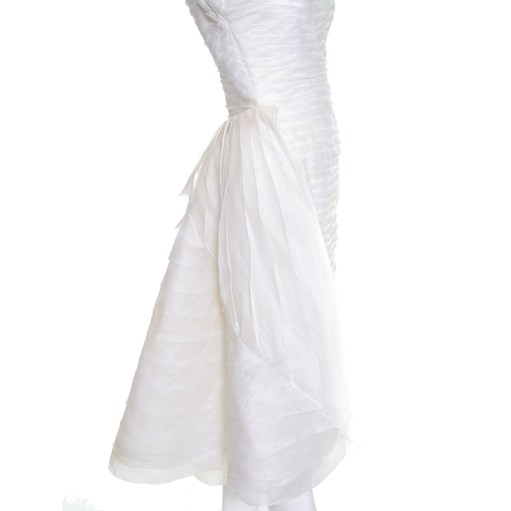 William cahill beverly hills vintage wedding dress pleated for Beverly hills wedding dresses