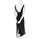 Carmen Marc Valvo Vintage Dress 1990s Beaded