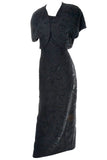 Carmen Marc Valvo Vintage Dress 1990s black