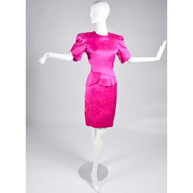 Vintage Pink Silk Carolina Herrera Dress