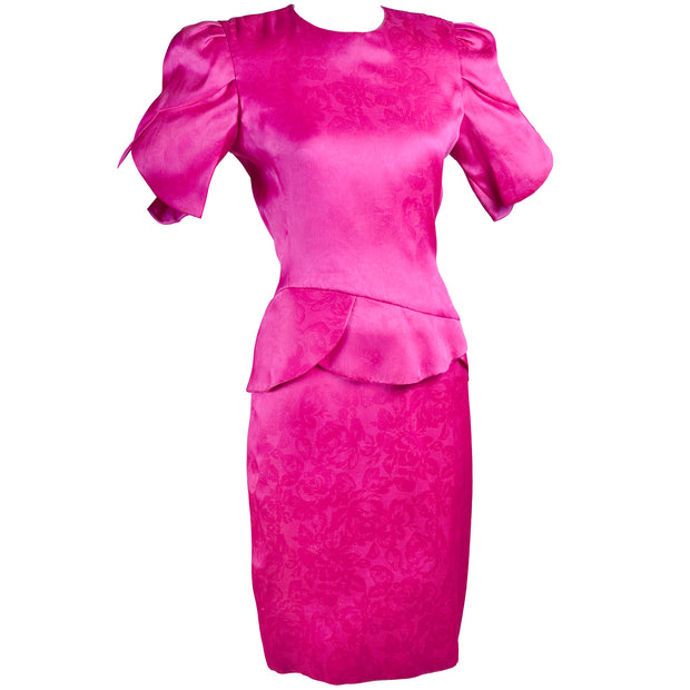Carolina Herrera Dress in Pink Silk Jacquard