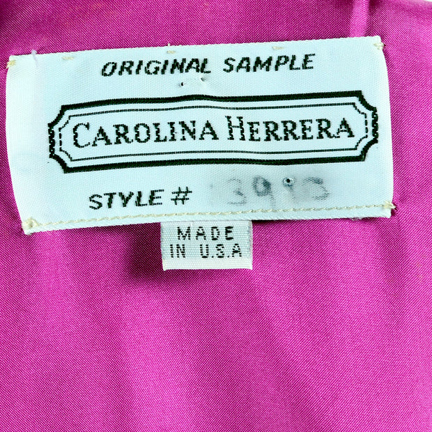 Original Sample Carolina Herrera Dress