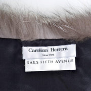 Carolina Herrera New York Saks Fifth Avenue fox fur wrap stole