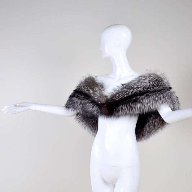 Caroline Herrera Holiday Fur Off Shoulder Wrap