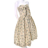 Rare 50s Carolyn Schnurer Vintage Dress Yellow Print