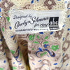 Carolyn Schnurer Vintage Dress Yellow Print ABC Fabric