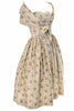 Carolyn Schnurer 1950's Vintage Dress Yellow Print