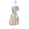 Carolyn Schnurer Vintage Dress Yellow Print 1950s Wrap