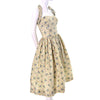 50s Carolyn Schnurer Vintage Dress Yellow Print ABC