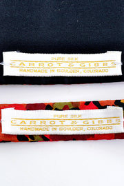 Carrot & Gibbs silk cummerbund and bow tie matching floral set