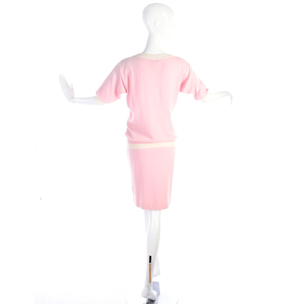 1988 Chanel runway pink cashmere outfit