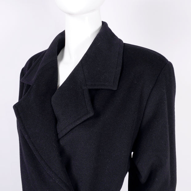 1998 Chanel Black Wool & Cashmere Long Coat