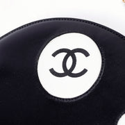 CC Logo Chanel black and white circle handbag