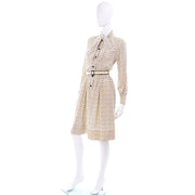 1970's Vintage Chanel Black & Cream Day Dress
