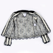 Chantilly Lace Lined Chanel Black and White Jacket