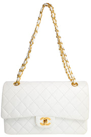 Chanel Caviar Quilted White Handbag Double Flap Bag