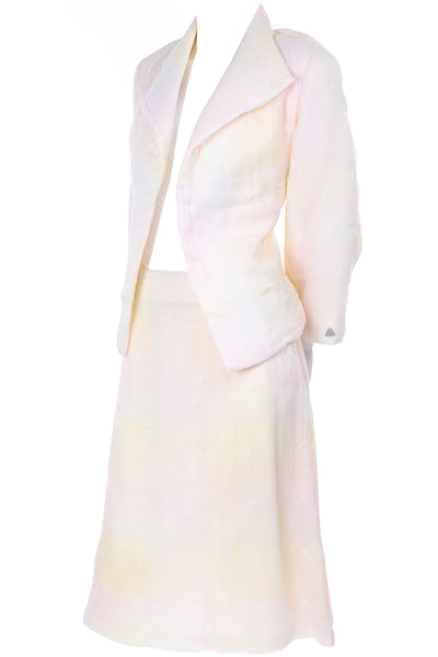 Chanel White Pastel Ombre SKirt Suit