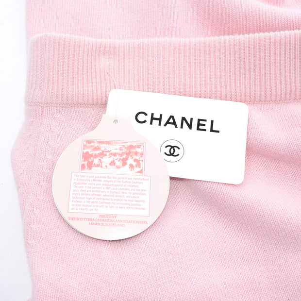 S/S 1988 Chanel Pink Cashmere Skirt & Short Sleeve Sweater Deadstock