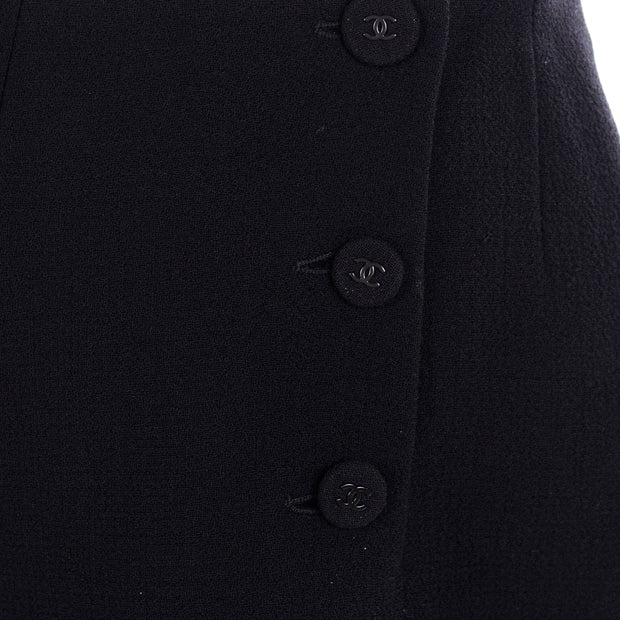 Chanel Sailor Pants Black Wool Silk Lining CC buttons