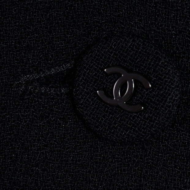 Chanel Sailor Pants Black Wool Silk Lining 6
