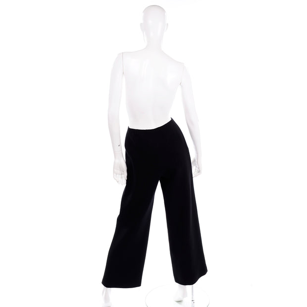 Chanel Sailor Pants Black Trousers in Wool Silk Lining