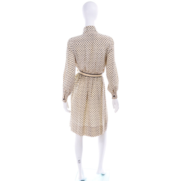 1970's Chanel Vintage Dress w Neck Bow