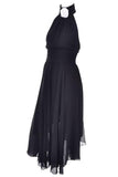Chanel Black Wool Sheer 1994 vintage Dress