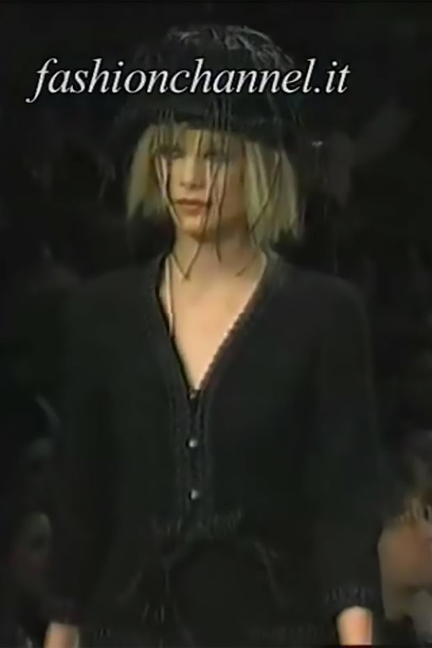 A/H 1994 Chanel documented black skirt suit