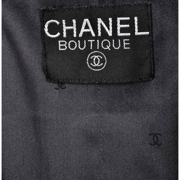 Chanel boutique label and silk logo lining