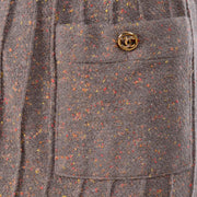 Chanel skirt with reverse seams and pockets