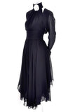 Vintage Black Wool Halter Dress Chanel Boutique