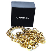 Chanel new in box gold chain link belt with balls