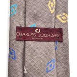 Charles Jourdan Paris vintage tie label