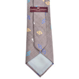 Vintage designer Charles Jourdan Paris gray silk tie with geometric pattern