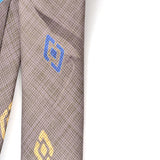 Geometric vintage silk tie by Charles Jourdan