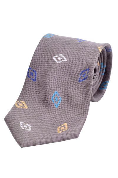 Colorful diamond tie by Charles Jourdan