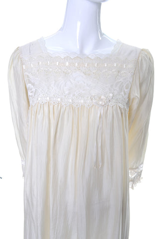 Vintage Silk Christian Dior Nightgown Lace with tags