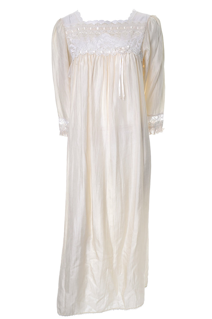Vintage Silk Christian Dior Nightgown Lace long