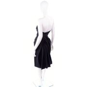 F/W 2007 John Galliano for Christian Dior Black Evening Dress w Glass Beads