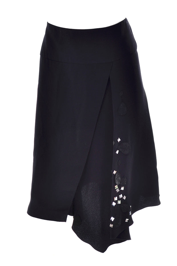 Christian Lacroix Black Silk Evening Skirt