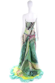 Spring Summer 2005 Christian Lacroix Runway Silk Chiffon Evening Gown