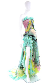 Documented Christian Lacroix Runway Silk Chiffon Evening Gown