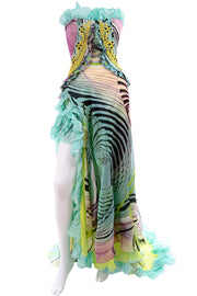 Christian Lacroix Runway Dress Silk Chiffon Evening Gown