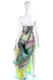 Christian Lacroix Runway Silk Chiffon Evening Gown Strapless