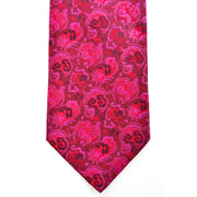 "Vintage silk men's tie in hot pink, magenta, and red by Christian Lacroix. 3.5"" wide blade"