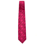 Hot pink embroidered silk vintage necktie by Christian Lacroix