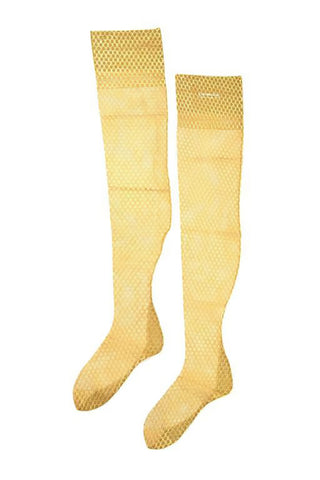 Vintage new in box Christian Dior gold thigh-highs