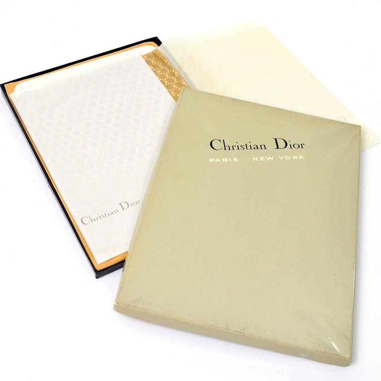 Rare Vintage Christian Dior Gold Metallic Stockings NEW in Box With Lingerie Bag - Dressing Vintage