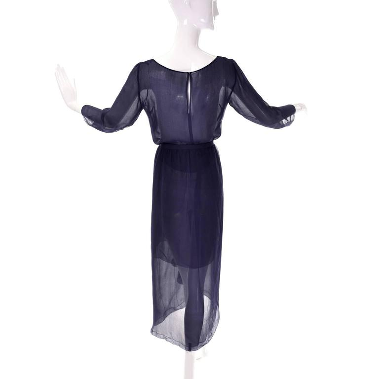 Sheer Christian Dior Paris Haute Couture vintage 2 piece dress